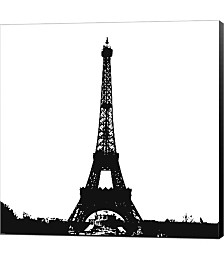 Black Eiffel Tower by Veruca Salt Canvas Art