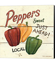 Sweet Peppers by David Carter Brown Canvas Art