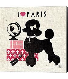 Paris Pooch by Studio Mousseau Canvas Art