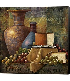 Cheese & Grapes by Janet Stever Canvas Art