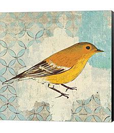 Pine Warbler by Belinda Aldrich Canvas Art