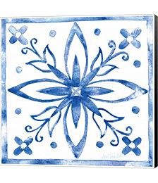 Tile Stencil I Blue by Anne Tavoletti Canvas Art