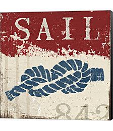 Nautical III Red by Wellington Studio Canvas Art