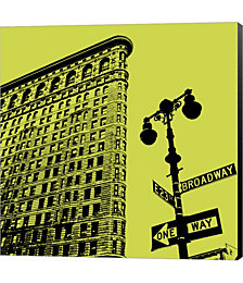 Acid Flatiron by Erin Clark Canvas Art