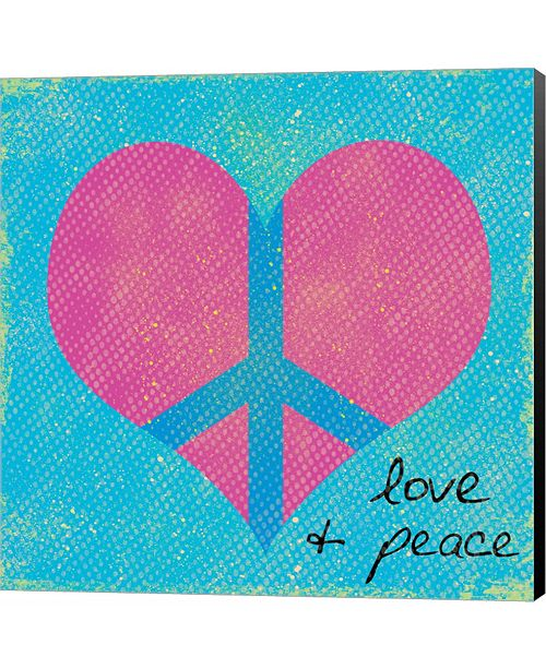 Metaverse Love and Peace 2 by Louise Carey Canvas Art