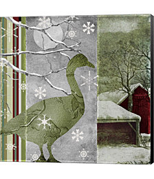 Country Christmas Duck by Color Bakery Canvas Art