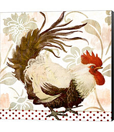 Rooster Damask II by Color Bakery Canvas Art