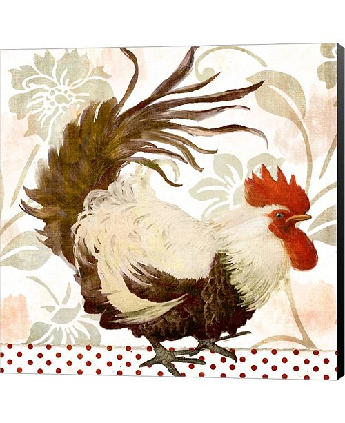 Metaverse Rooster Damask II by Color Bakery Canvas Art