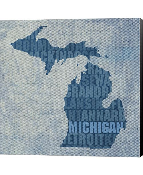 Metaverse Michigan State Words by David Bowman Canvas Art