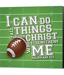 I Can Do All Sports - Football by Scott Orr Canvas Art