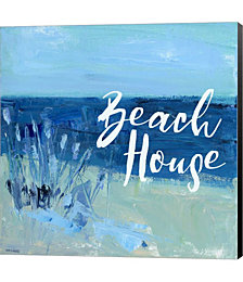 Beach House by Pamela J. Wingard Canvas Art