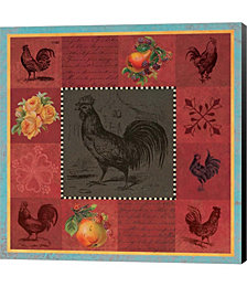 Rooster Melange by Tammy Apple Canvas Art