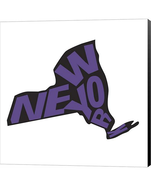 Metaverse New York Letters by Art Licensing Studio Canvas Art