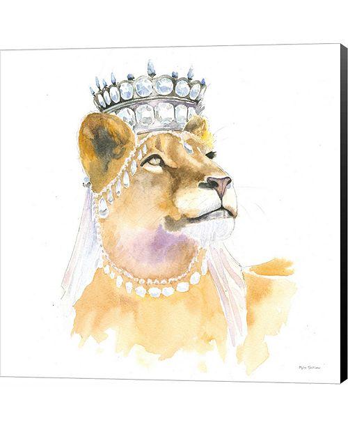 Metaverse Jungle Royalty II Crop by Tammy Apple Canvas Art