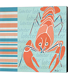 Nautical Lobster by Shanni Welsh Canvas Art