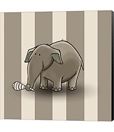 Elephant Stipes by GraphINC Canvas Art
