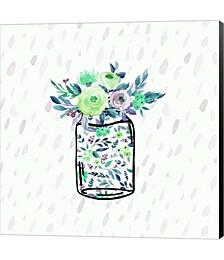 Mason Jar Florals by Tara Moss Canvas Art