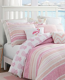Caribbean Joe Pineapple 4-Piece Queen Comforter Set