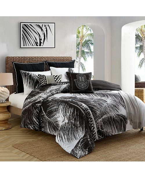Cathay Home Inc. Caribbean Joe Palm 4-Piece Full  Comforter Set