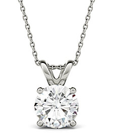 Moissanite Solitaire Pendant (3-1/10 ct. t.w. Diamond Equivalent) in 14k White Gold