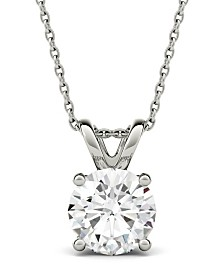Moissanite Solitaire Pendant (3-1/10 ct. t.w. Diamond Equivalent) in 14k White Gold