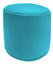 Jordan Manufacturing  Round  High Outdoor Pouf - 1 Pack