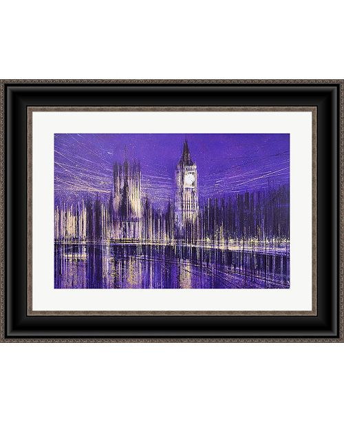 Metaverse Westminster At Midni by Marc Todd Framed Art