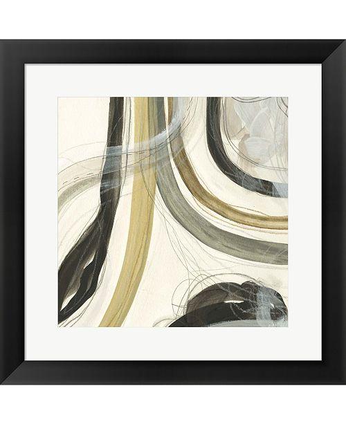 Metaverse Neutral Lines II by June Erica Vess Framed Art