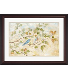 Blue Birds Branch by Cynthia Coulter Framed Art