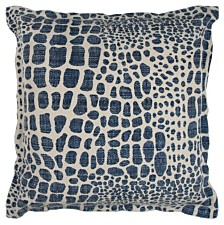 "Rizzy Home 22"" x 22"" Animal Print Poly Filled Pillow"