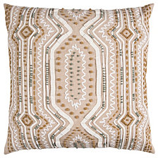 "Rizzy Home Brown 20"" X 20"" Tribal Design Poly Filled Pillow"