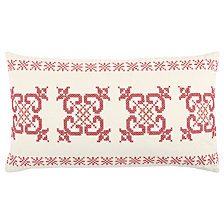 "Rizzy Home 14"" X 26"" Geometrical Design Poly Filled Pillow"