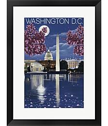 Washington DC by Lantern Press Framed Art