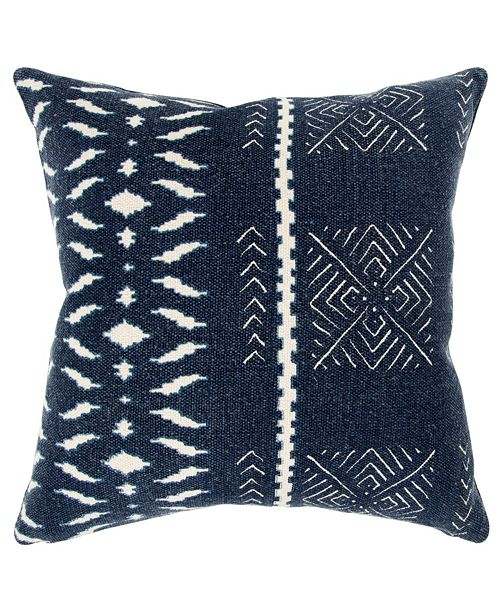 """Rizzy Home Donny Osmond 20"""" x 20"""" Geometrical Design Poly Filled Pillow"""