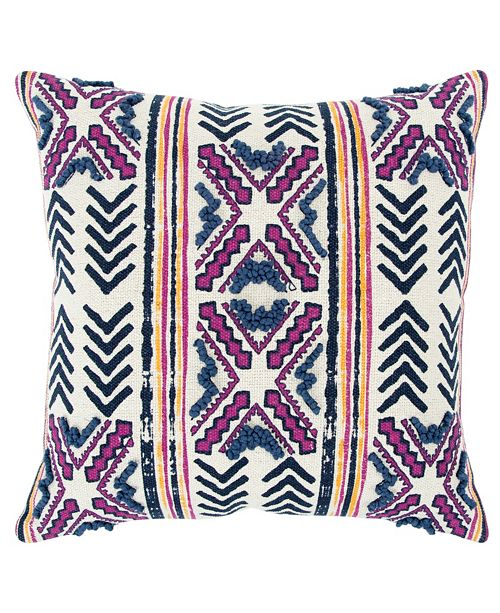 "Rizzy Home Donny Osmond 20"" x 20"" Striped Poly Filled Pillow"