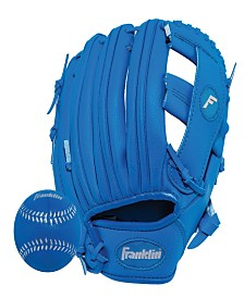 "Franklin Sports 9.5"" Rtp Performance Teeball Glove And Ball Combo Royal - Right Handed Thrower"
