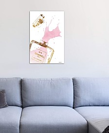"iCanvas ""Gold Perfume Bottle With Pink Splash"" by Amanda Greenwood Gallery-Wrapped Canvas Print"