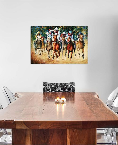 """iCanvas """"Horse Race"""" by Leonid Afremov Gallery-Wrapped Canvas Print"""