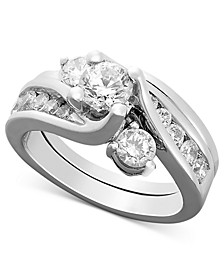Certified Diamond Engagement Ring Bridal Set (1-1/2 ct. t.w.) in 14k White Gold