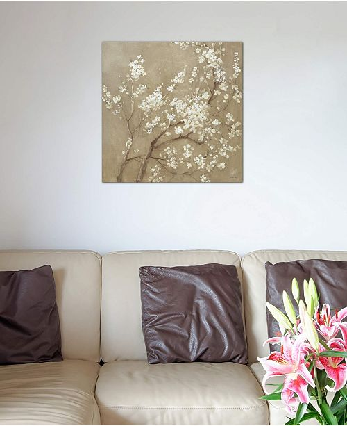 "iCanvas ""White Cherry Blossoms I"" by Danhui Nai Gallery-Wrapped Canvas Print (18 x 18 x 0.75)"