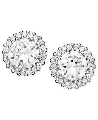 Giani Bernini Pavé Cubic Zirconia Stud Earrings (2-3/4 ct. t.w.) in Sterling Silver - Earrings - Jewelry & Watches - Macy's