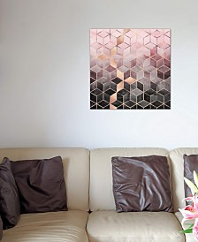 """iCanvas """"Pink And Grey Cubes"""" by Elisabeth Fredriksson Gallery-Wrapped Canvas Print (18 x 18 x 0.75)"""