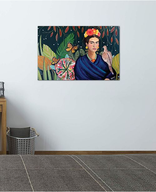 """iCanvas """"Frida"""" by Sylvie Demers Gallery-Wrapped Canvas Print (18 x 26 x 0.75)"""