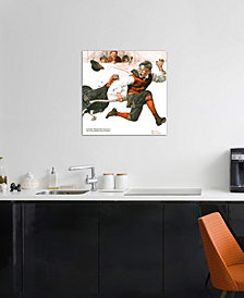 """iCanvas """"Cousin Reginald Catches the Thanksgiving Turkey"""" by Norman Rockwell Gallery-Wrapped Canvas Print (18 x 18 x 0.75)"""