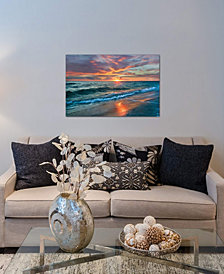 "iCanvas ""Sunset Over Ocean, Gulf Islands National Seashore, Florida"" by Tim Fitzharris Gallery-Wrapped Canvas Print (26 x 40 x 0.75)"