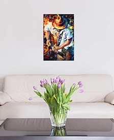 """iCanvas """"Guitar and Soul"""" by Leonid Afremov Gallery-Wrapped Canvas Print (40 x 26 x 0.75)"""
