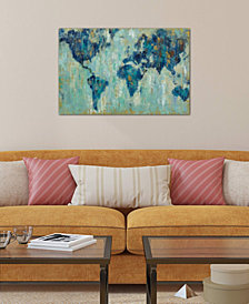 "iCanvas ""Map Of The World"" by Silvia Vassileva Gallery-Wrapped Canvas Print (26 x 40 x 0.75)"
