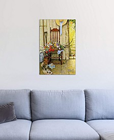 """""""Spring Flowers"""" by Norman Rockwell Gallery-Wrapped Canvas Print (26 x 18 x 0.75)"""