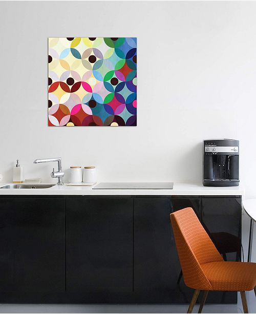 """iCanvas """"Mid Century Modern Art- Circular Motion"""" by 5by5collective Gallery-Wrapped Canvas Print (26 x 26 x 0.75)"""
