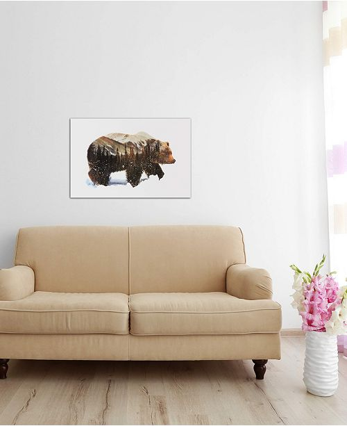"iCanvas ""Arctic Grizzly Bear"" by Andreas Lie Gallery-Wrapped Canvas Print (18 x 26 x 0.75)"